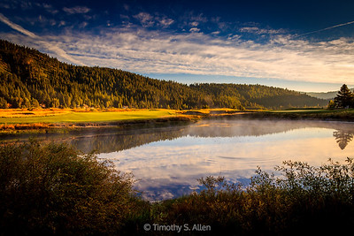 Mountain Pond at Sunrise