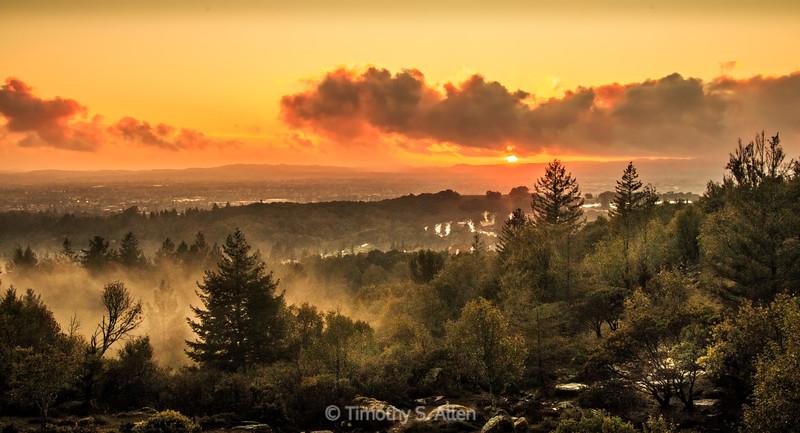 Sunset of Santa Rosa, California
