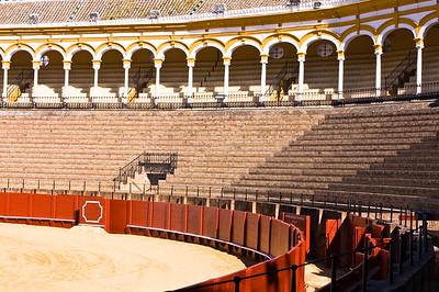 An empty bullring, Plaza de Toros, Sevilla, Andalucia, Spain