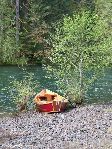 Red McKenzie River Drift Boat