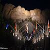 Mt. Rushmore  night light flags