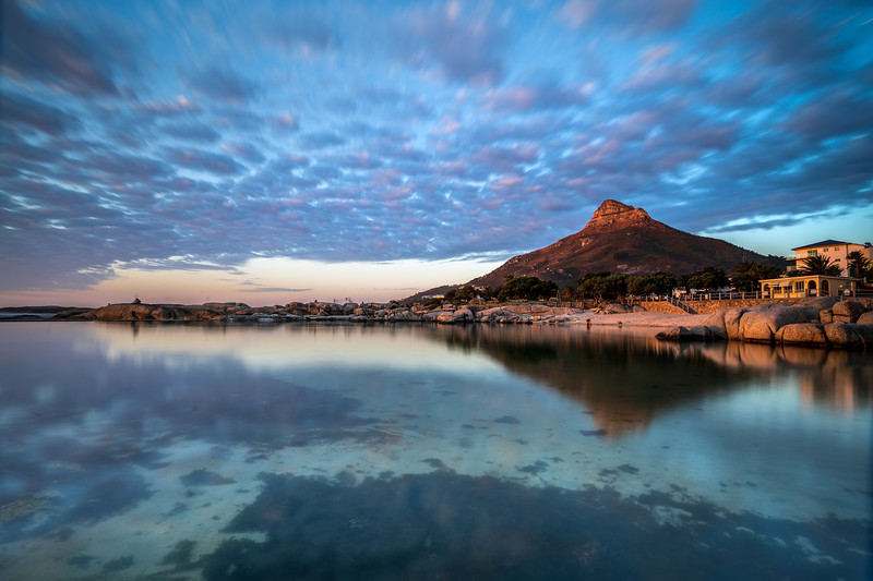 Camps Bay tidal pool sunset, 2020