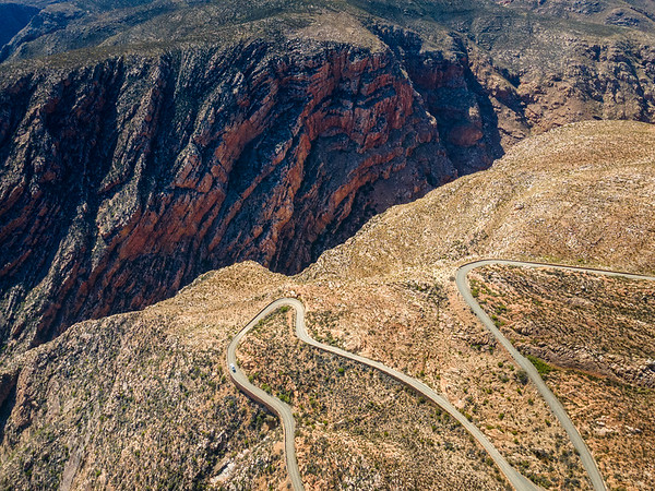 The winding road, Swartberg Pass, South Africa