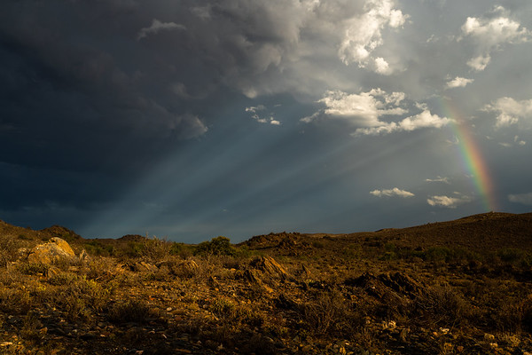 Somewhere over the rainbow, Karoo, Prince Albert, South Africa