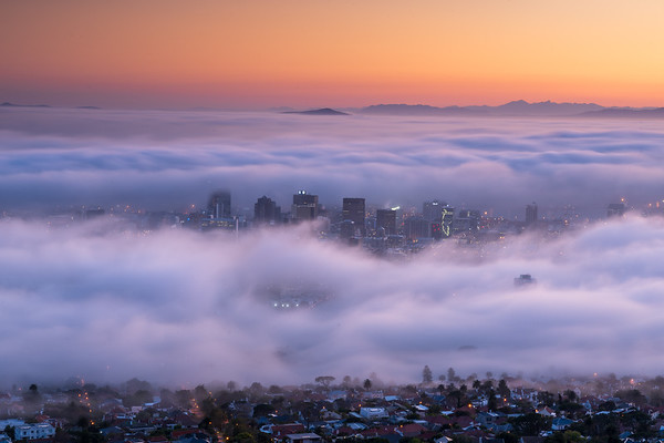 Fog in Cape Town