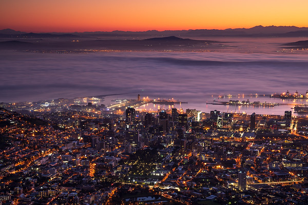 Night lights Cape Town