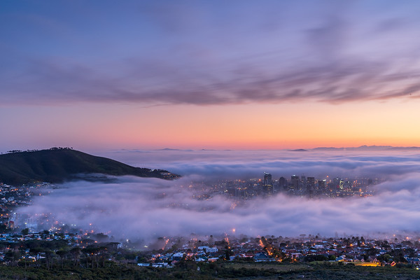 Fog in Cape Town