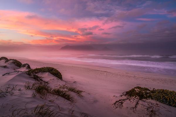 Moody sunrise, Dolphin Beach, Cape Town, South Africa