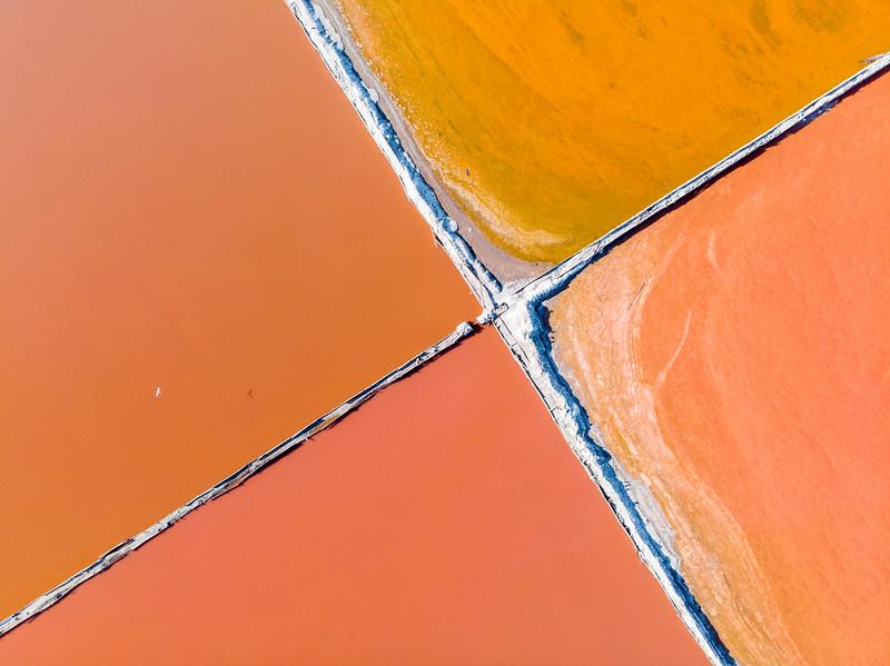 Salt pan abstract, Velddrift 2020