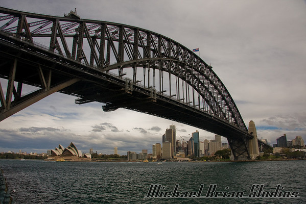 Sydney Harbor Bridge from Luna Park.
