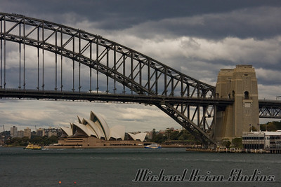 Sydney Harbor Bridge from a Blue Point Reserve.