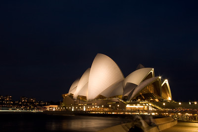 Sydney Opera house at night.