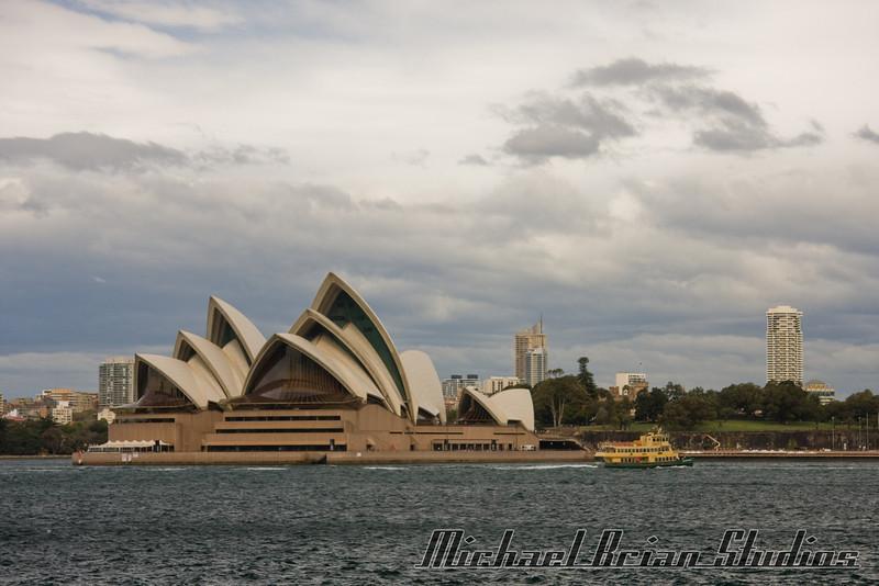 Sydney Harbor Bridge from Luna Park.