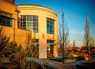 Auburn Justice Center at sunrise.