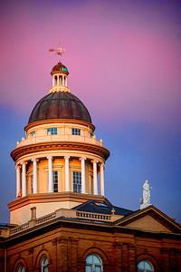 Auburn Historic Courthouse at sunset