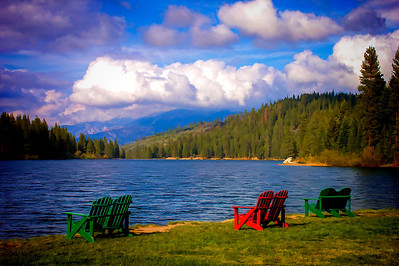 Chairs with a view, Hume Lake