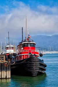 Sausalito Tug Boat Vertical