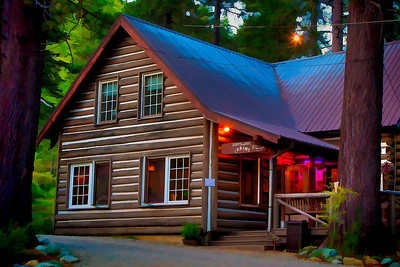 Sardine Lake Lodge at twilight