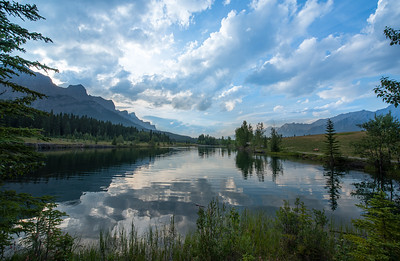 Sunset at Quarry Lake in Canmore - Large