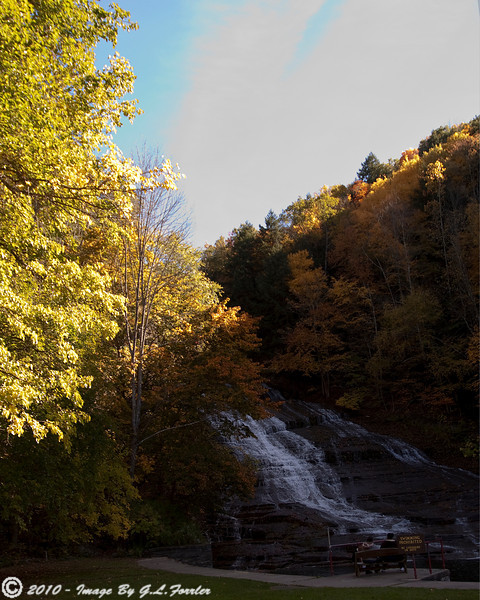 View of Buttermilk Falls,NY