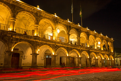 Light Trails in the Plaza