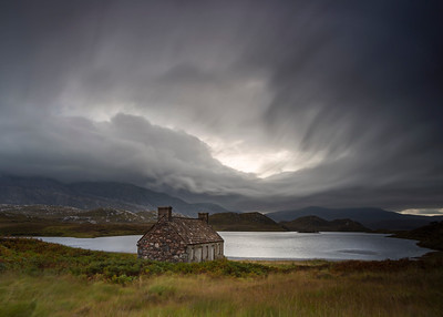 Bothy at a Stormy Loch Stack