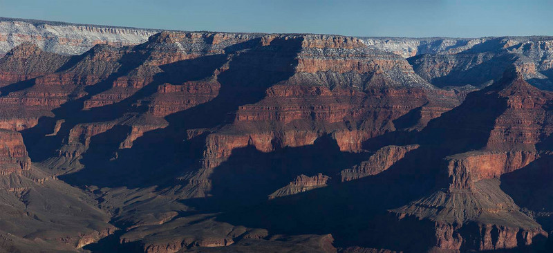 Panoramic image. From where I was standing for this image, the other side of the canyon was about 5 miles away.