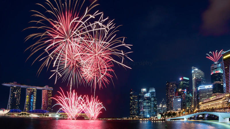 Fireworks @ Marina Bay Singapore