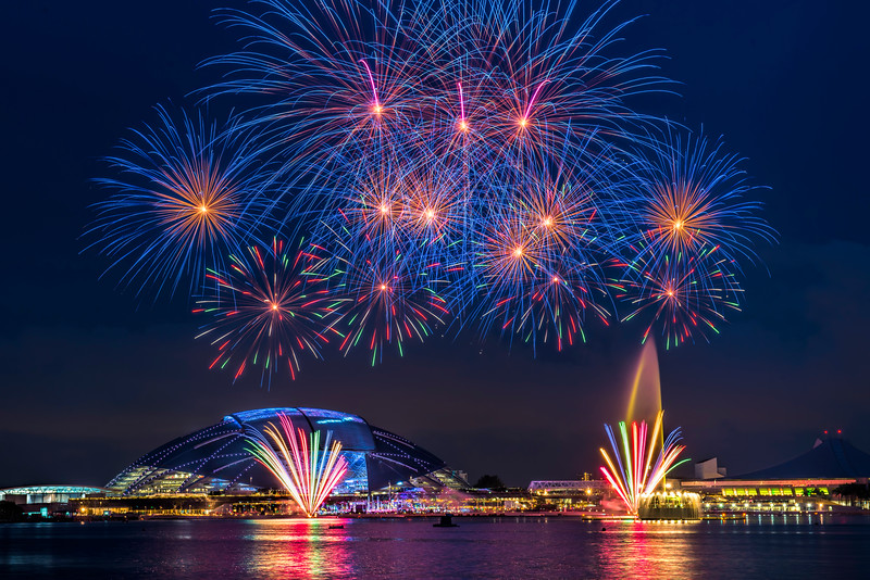 Fireworks at Sports Hub Singapore