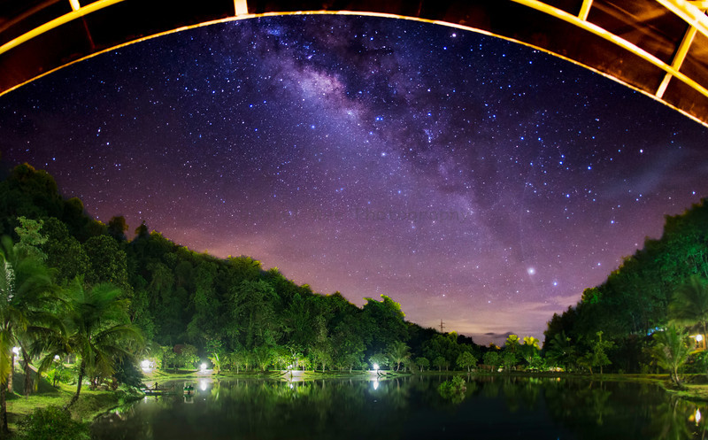 Milky Way at Kuraburi Greenview Resort, Thailand