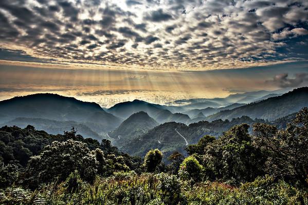 A view off Doi Ang Khang, Northern Chiang Mai, Thailand - Dec 2013