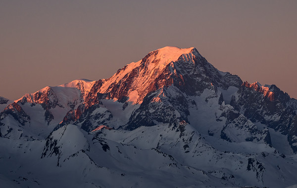 Mont Blanc at sunset from Refuge Turia