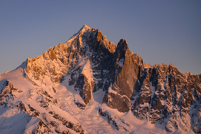 Aiguille Verte at sunset from the Aiguille Pourri, Chamonix, France
