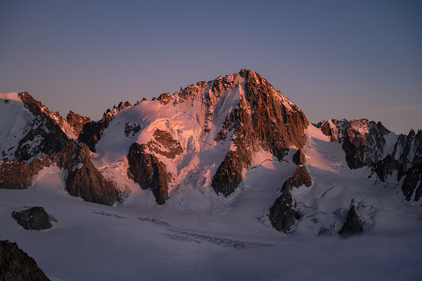 Aiguille du Chardonnet at sunset, Chamonix, France
