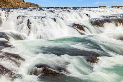 Upper Gullfoss Waterfall In Iceland