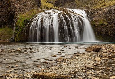 Stjórnarfoss Watefall In Iceland