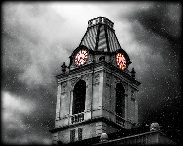 Happy Halloween 2010 - Robertson County Courthouse tower takes on a scary appearance in this rendering...