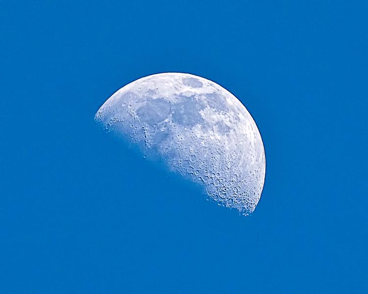 Afternoon Moon (2/11/11)<br /> Allen, Texas