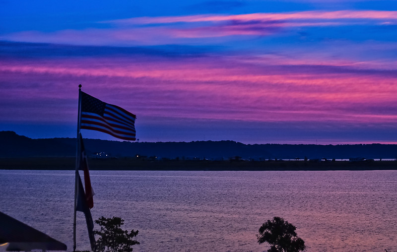 Sunrise Union Grove Park Flag