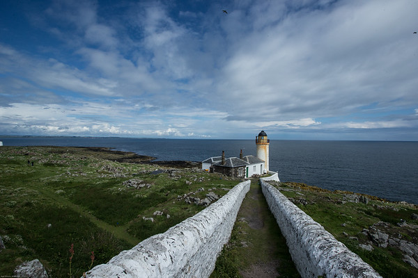 Lower lighthouse Isle of May scotland.