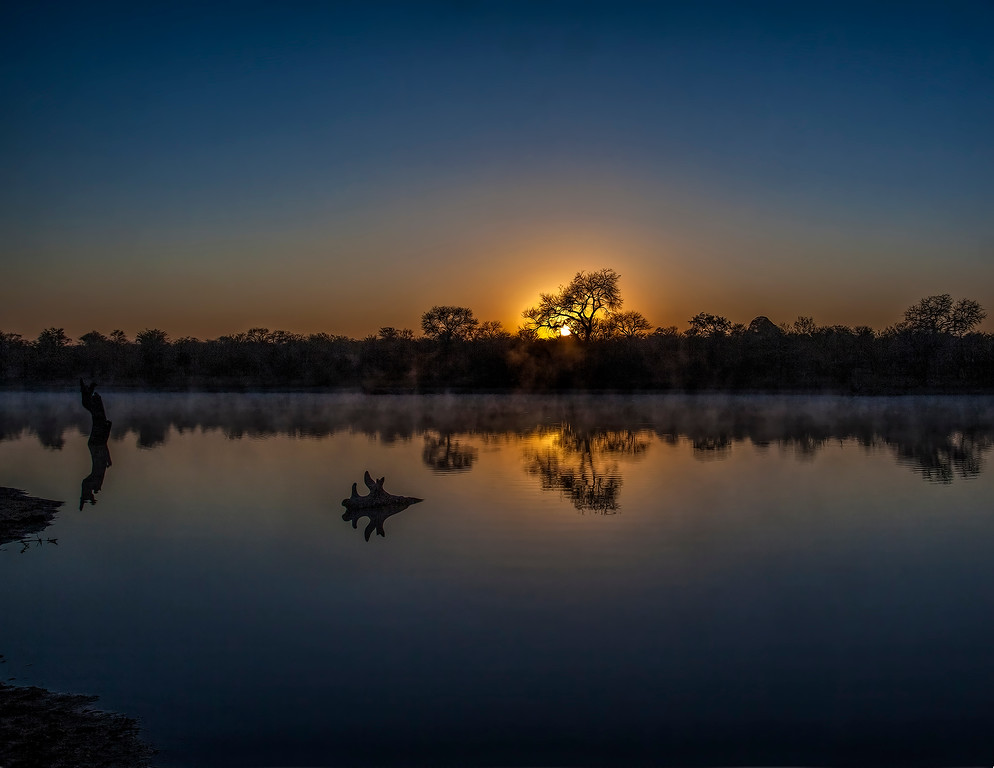 Ngala0714AM-6493 Waterhole Sunrise