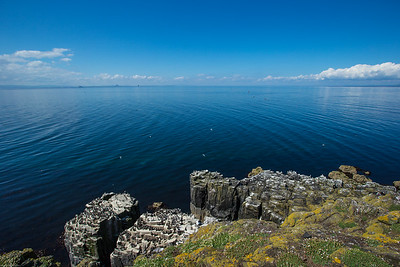 Cliff top view forth of firth isle of may