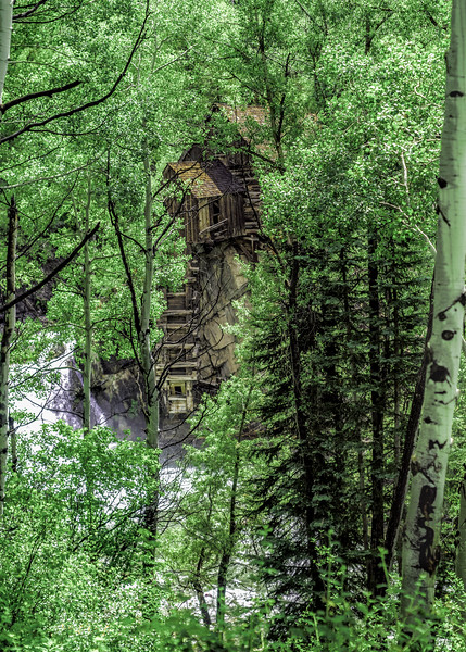 Crystal Mill thru the Trees