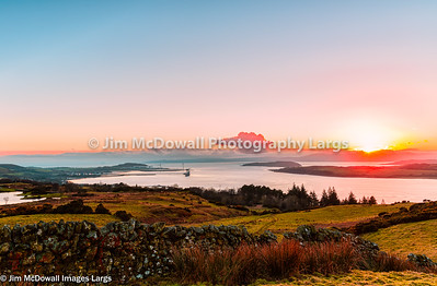 Clyde Valley at Sunset.