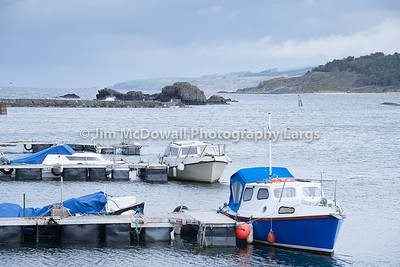 Small Boats Sheltering in Maidens Harbour Near Girvan  Scotland
