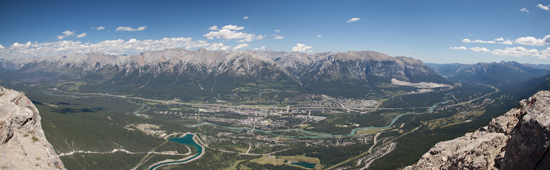 The panorama view of Canmore
