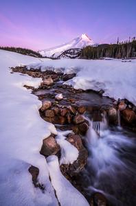 Mt Hood Winter Sunrise