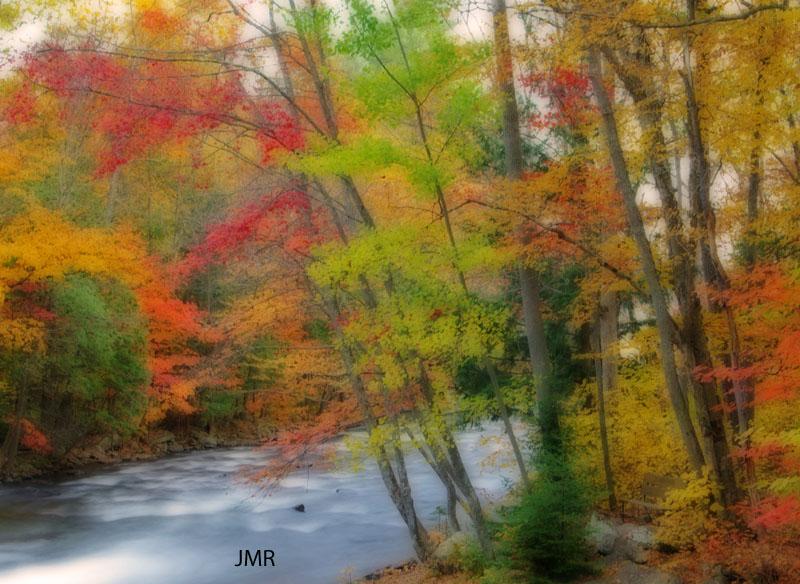 Watercolor rapids
