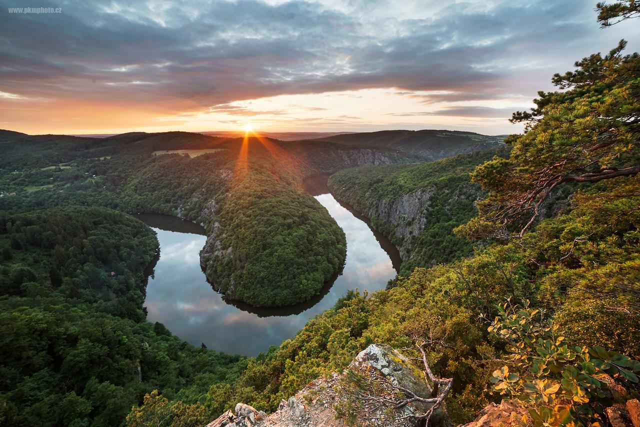 Vltavská vyhlídka během letního slunovratu