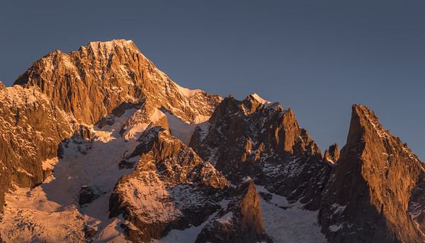 South face of Mont Blanc at sunrise, Italy